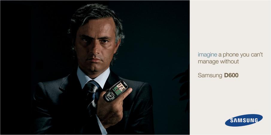 Jose Mourinho and a Samsung phone