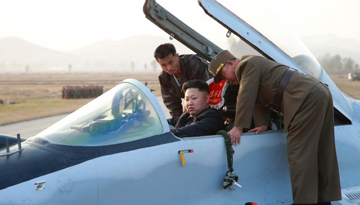Kim Flying a Plane
