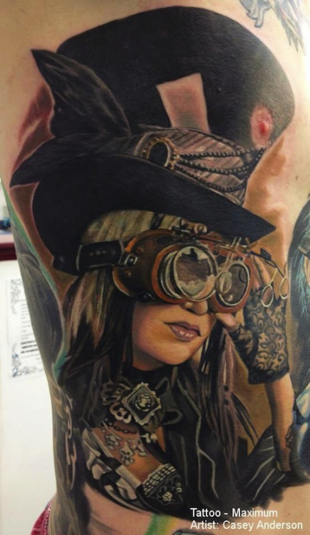 Top hat steampunk tattoo