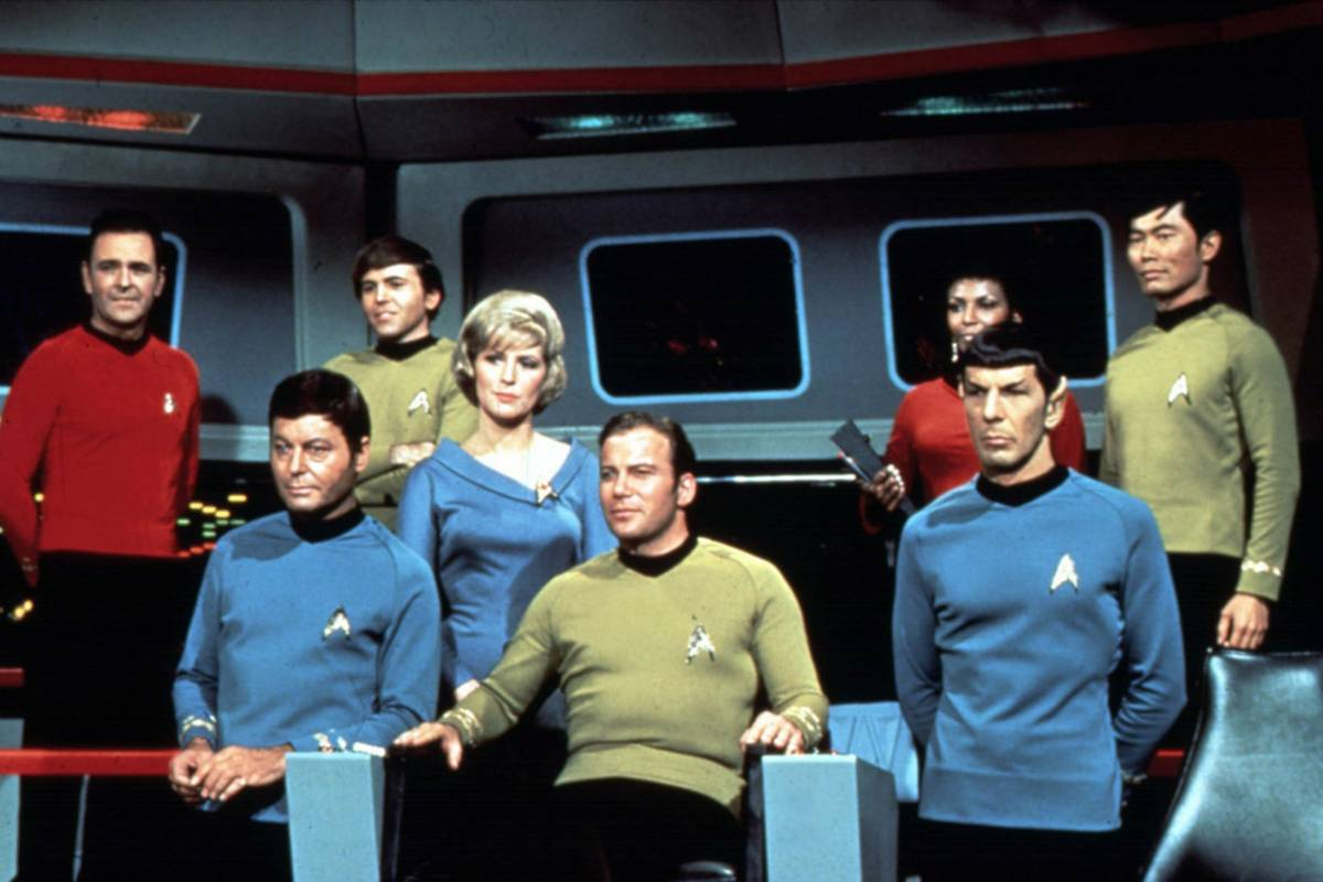 The orignal Star Trek crew