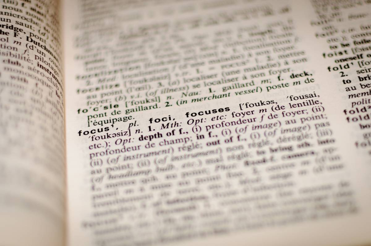 writing and definitions