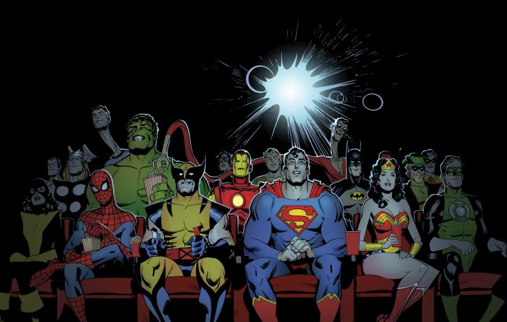 DC Marvel characters in the cinema