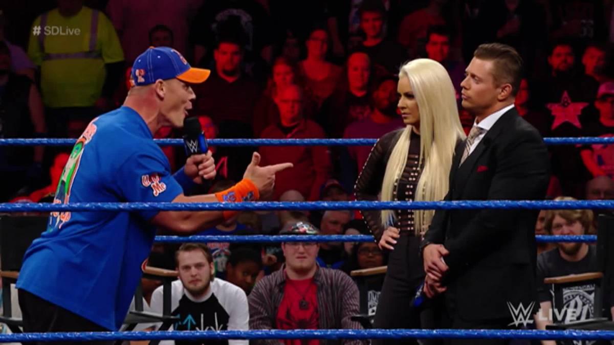 John Cena, The Miz and Maryse