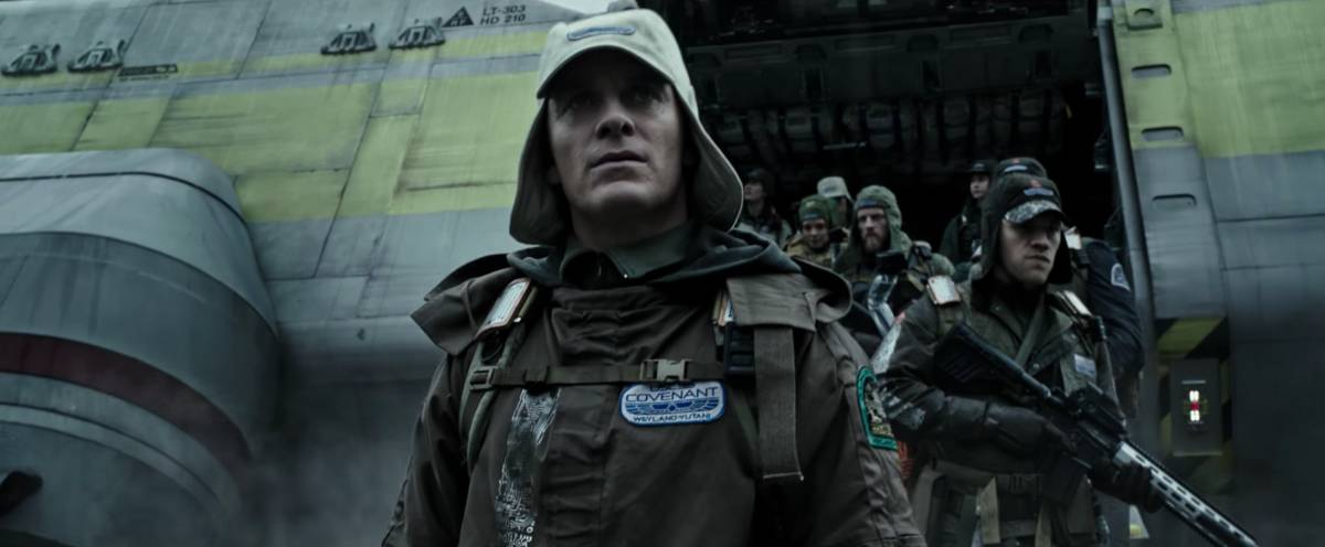 Fassbender in Alien: Covenant trailer screenshot