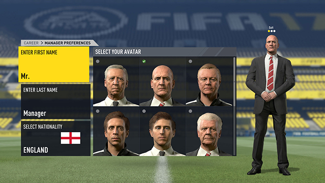 FIFA 17 manager