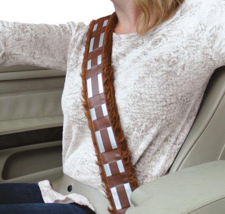 Star Wars gift idea: fluffy Chewbacca seatbelt cover