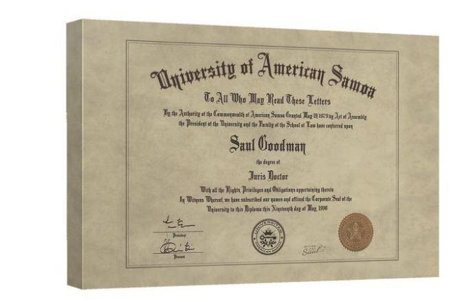 Better Call Saul diploma