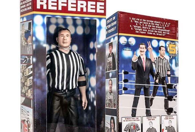 Wrestling referee talking figure