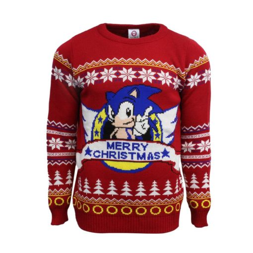 red sonic christmas jumpersweater - Sonic Christmas Hours