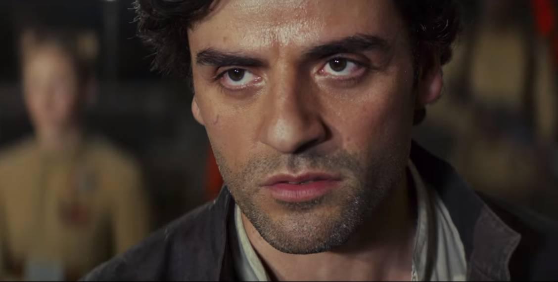 Oscar Isaac as Poe Dameron in The Last Jedi