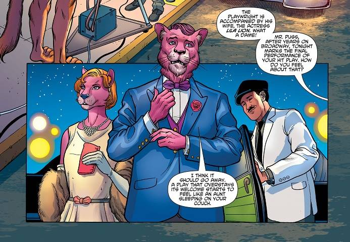 Snagglepuss #1 panel