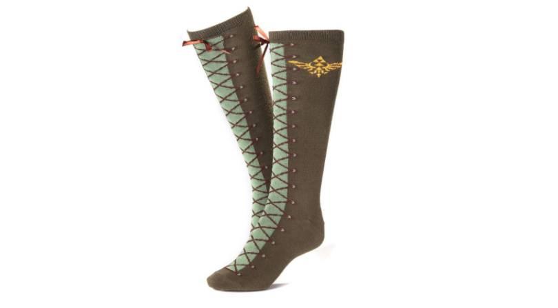 Zelda themed brown boot style socks