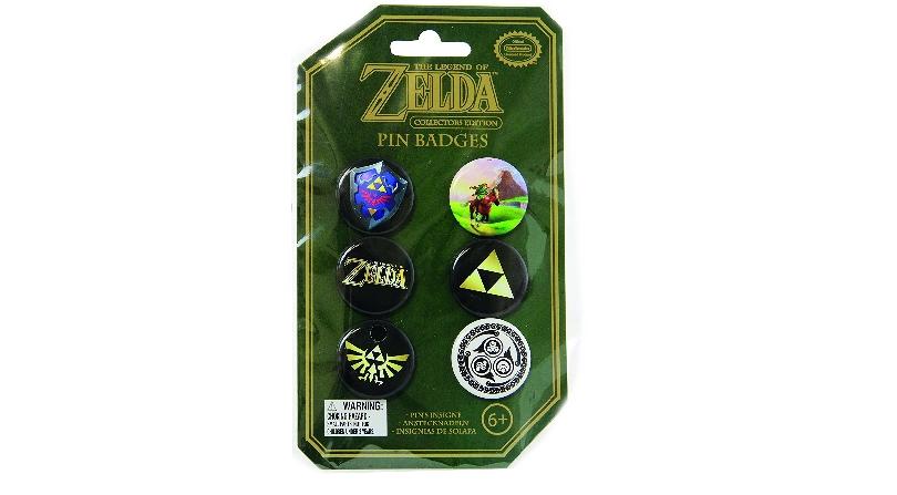 Zelda tin pin badges