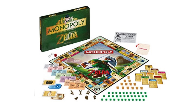 Zelda inspired Monopoly board and game pieces