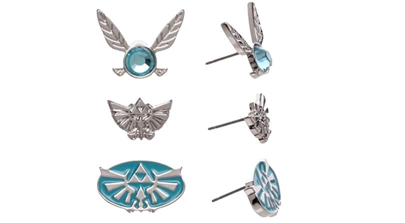 Zelda inspired silver/blue earrings