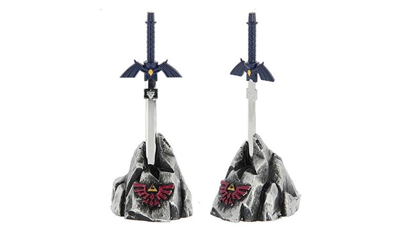 Zelda master sword inspired letter opener stands