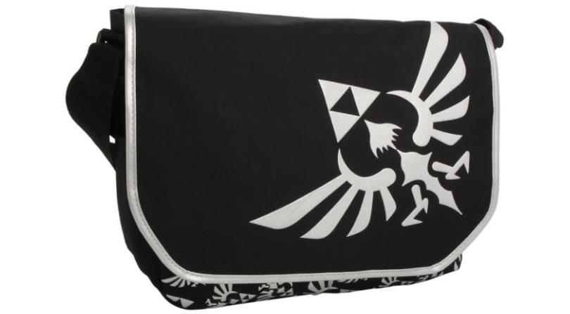 Zelda black messenger bag