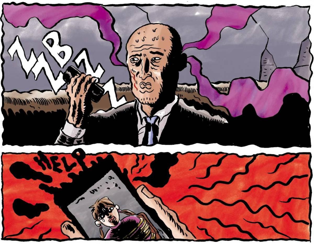 The Edge Off comics panels