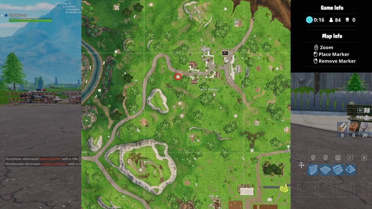Fortnite Follow The Treasure Map In Salty Fortnite Season 4 Guide Follow The Salty Springs Treasure Map