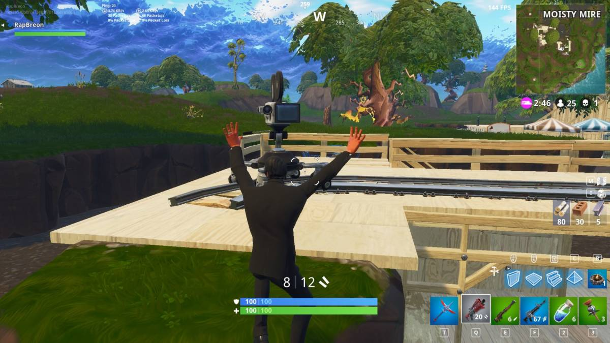 Fortnite Season 4 Guide Dance In Front Of 7 Different Cameras