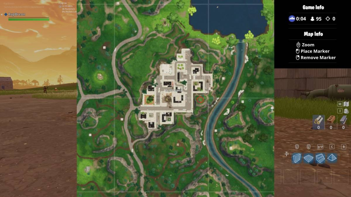 Tilted Towers treasure