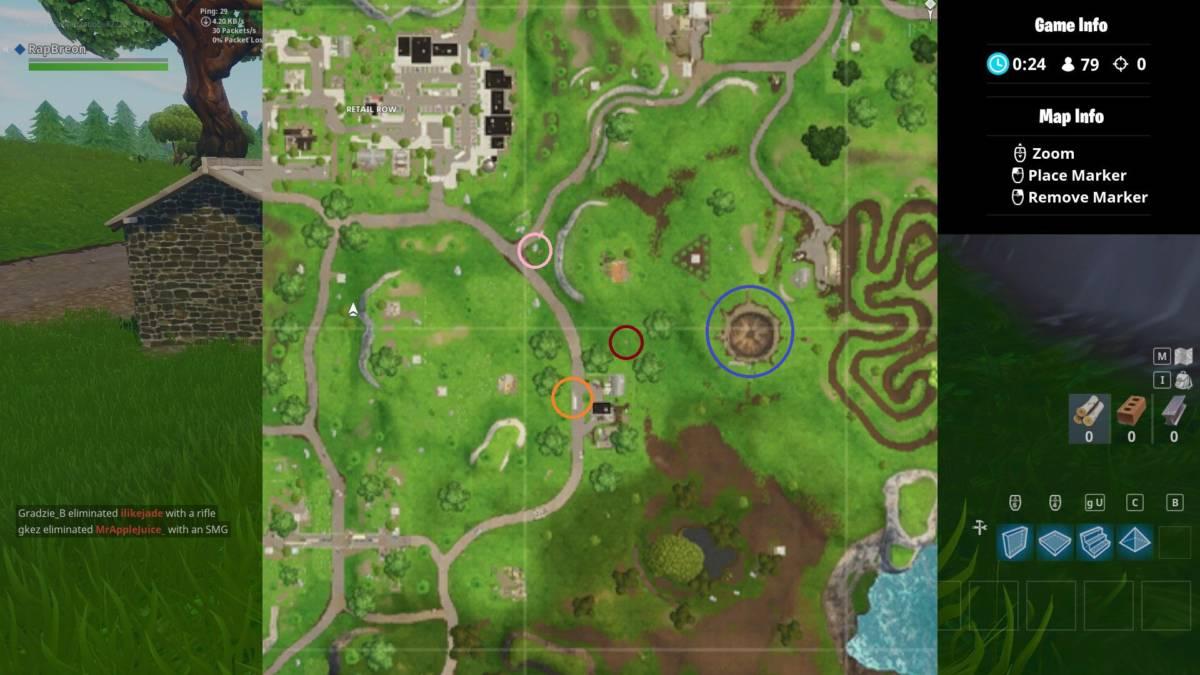 Fortnite treasure map locations