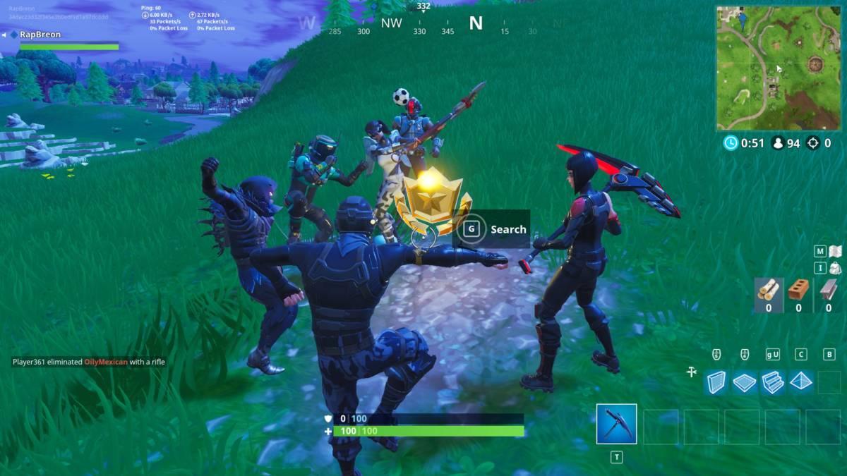 Fortnite treasure hunt