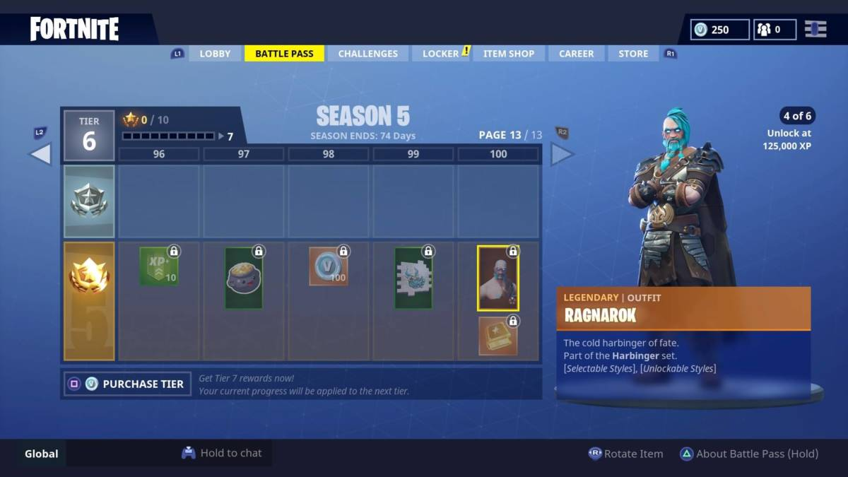 Fortnite season 5 ragnarok
