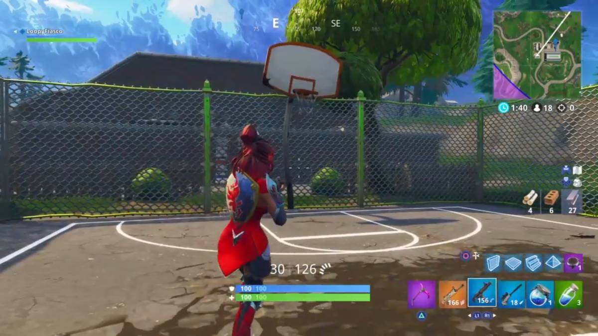Fortnite basketball hoop locations football factory 1