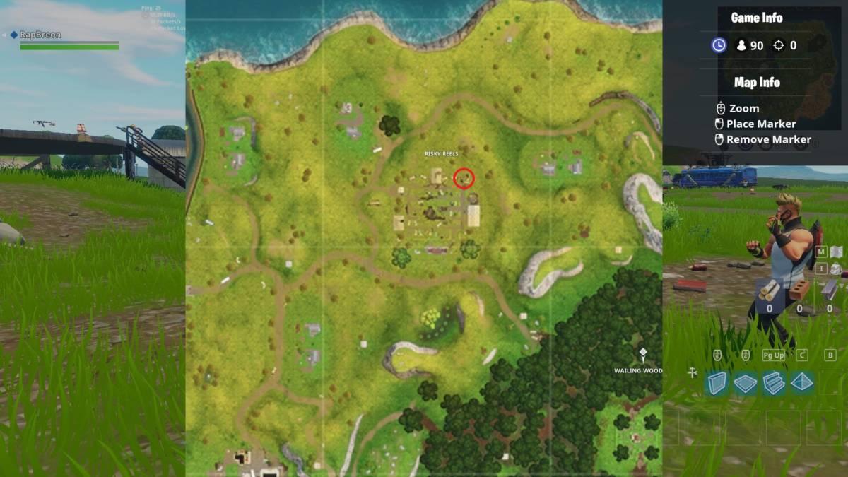 Risky Reels treasure map