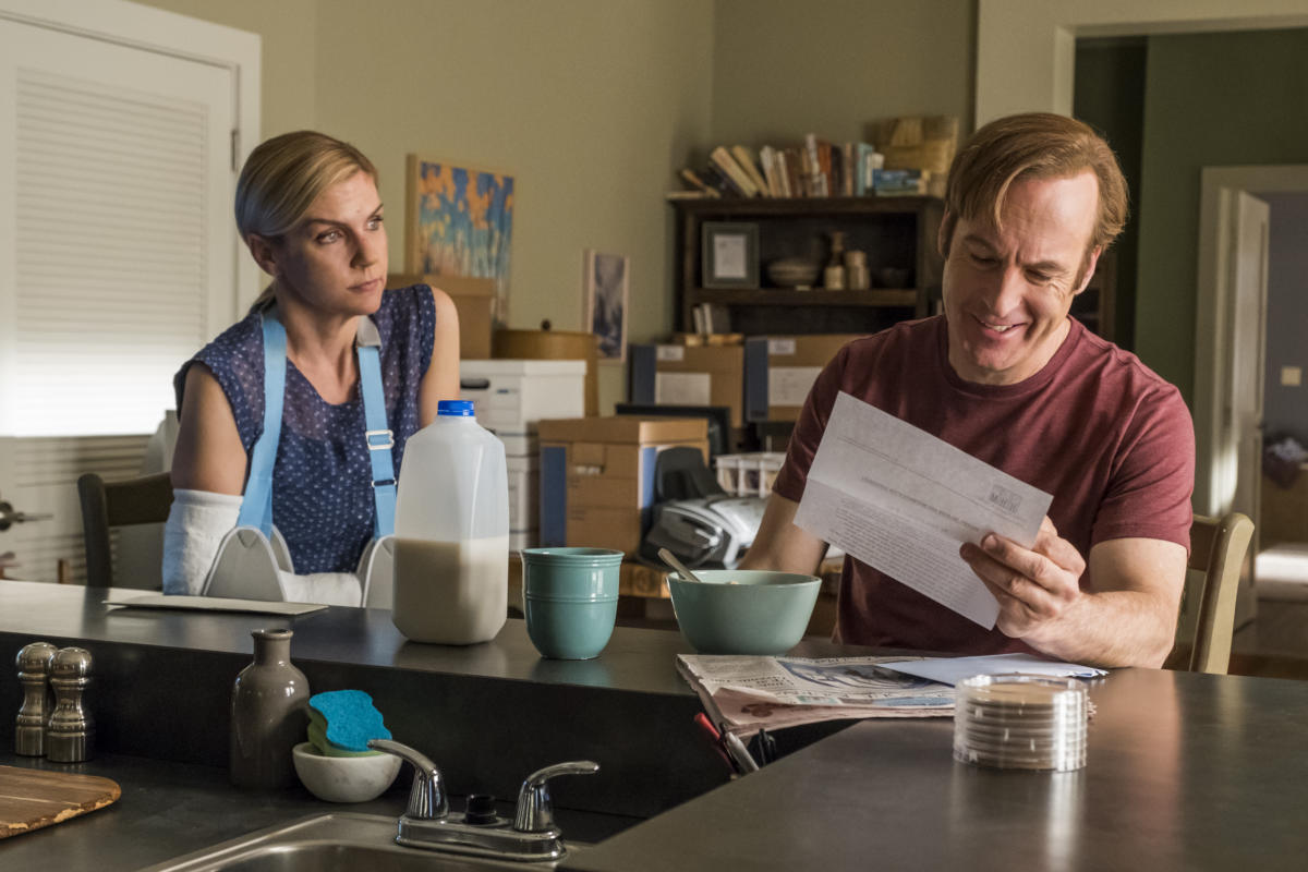 something beautiful Rhea Seehorn as Kim Wexler, Bob Odenkirk as Jimmy McGill - Better Call Saul _ Season 4, Episode 3 - Photo Credit: Nicole Wilder/AMC/Sony Pictures Television
