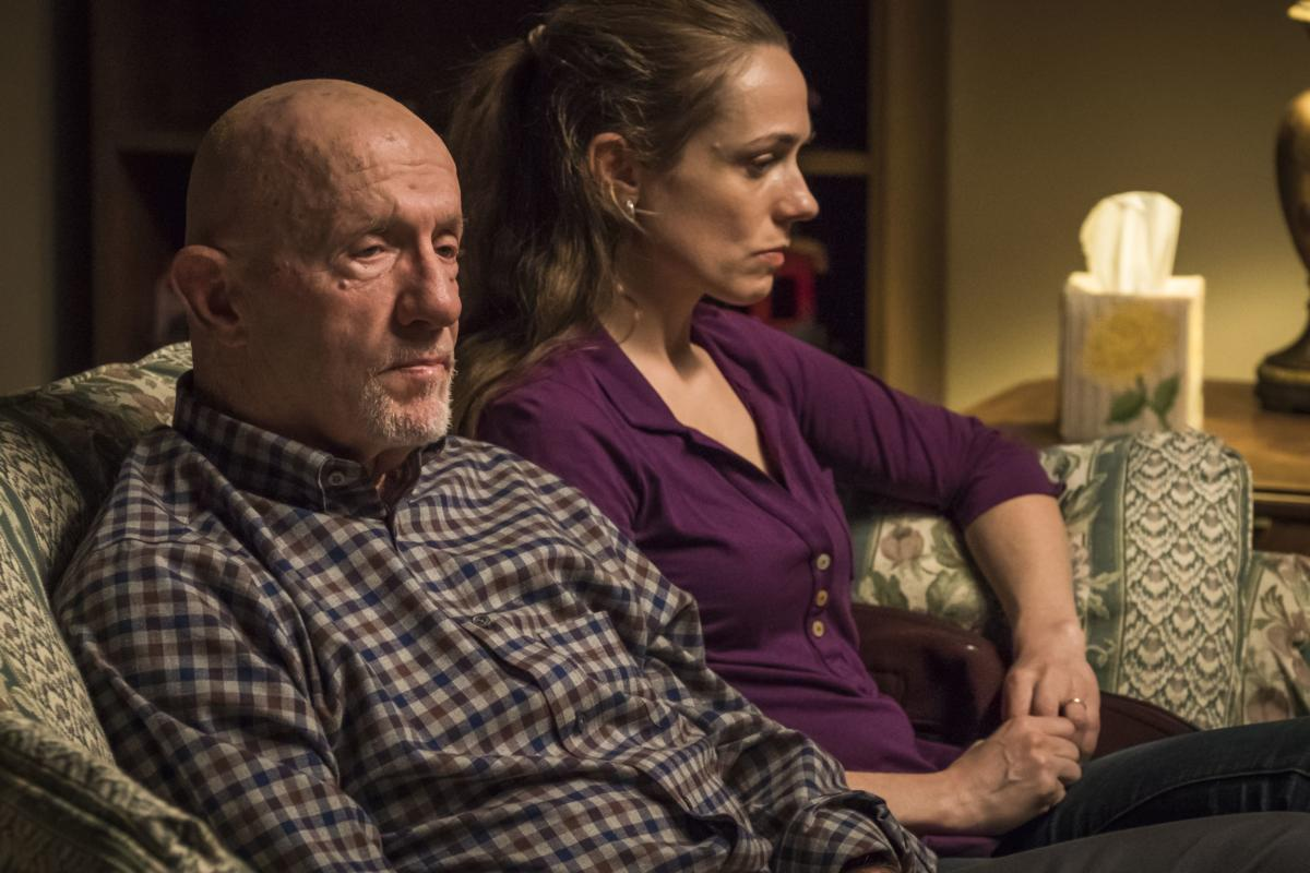 Jonathan Banks as Mike Ehrmantraut, Kerry Condon as Stacey - Better Call Saul _ Season 4, Episode 4 - Photo Credit: Nicole Wilder/AMC/Sony Pictures Television