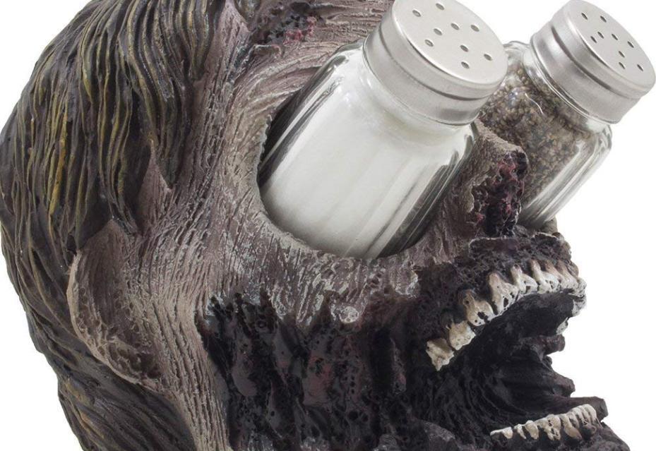 Salt and Pepper Zombie head