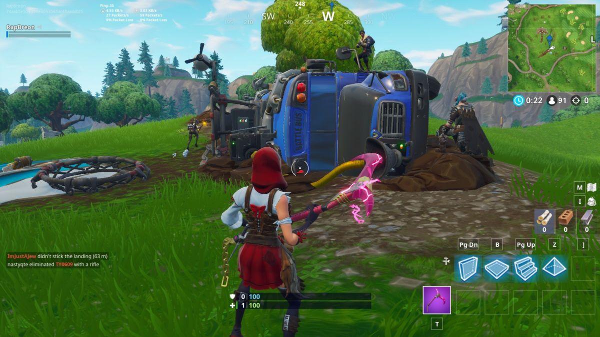 Fortnite crashed bus