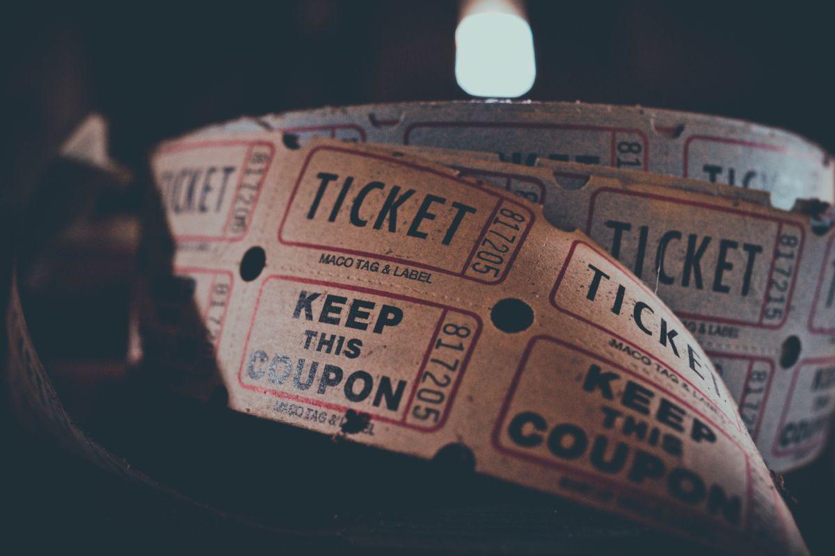 Movies ticket stub