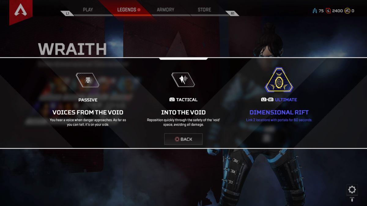 Apex Legends Wraith abilties