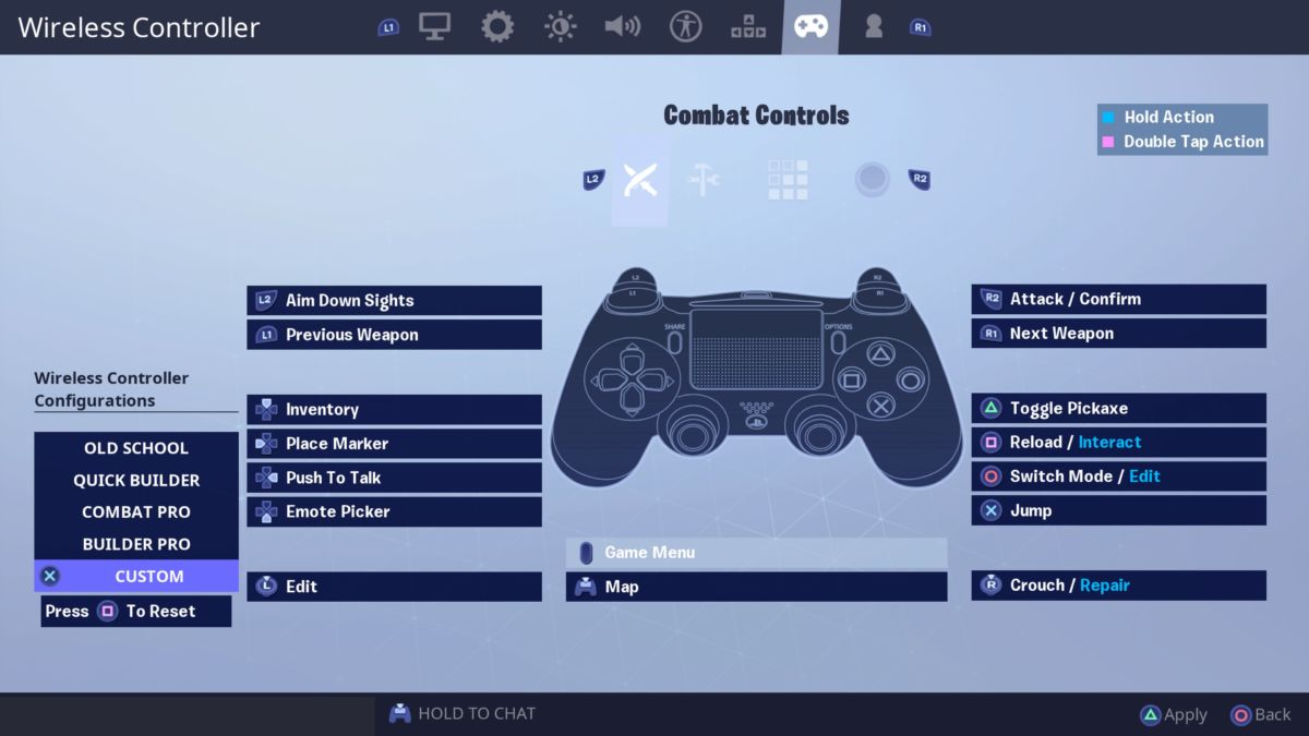 Fortnite-Custom-Combat-settings