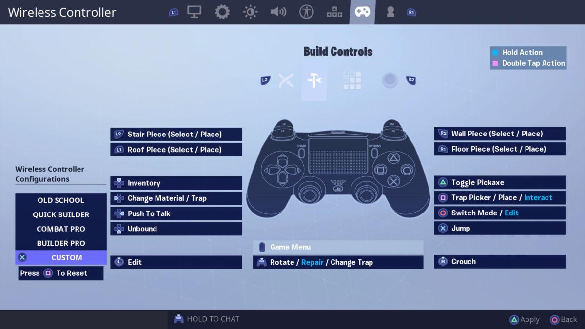 Fortnite-custom-build-settings