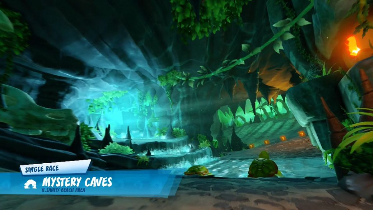 CTR - Mystery Caves Title