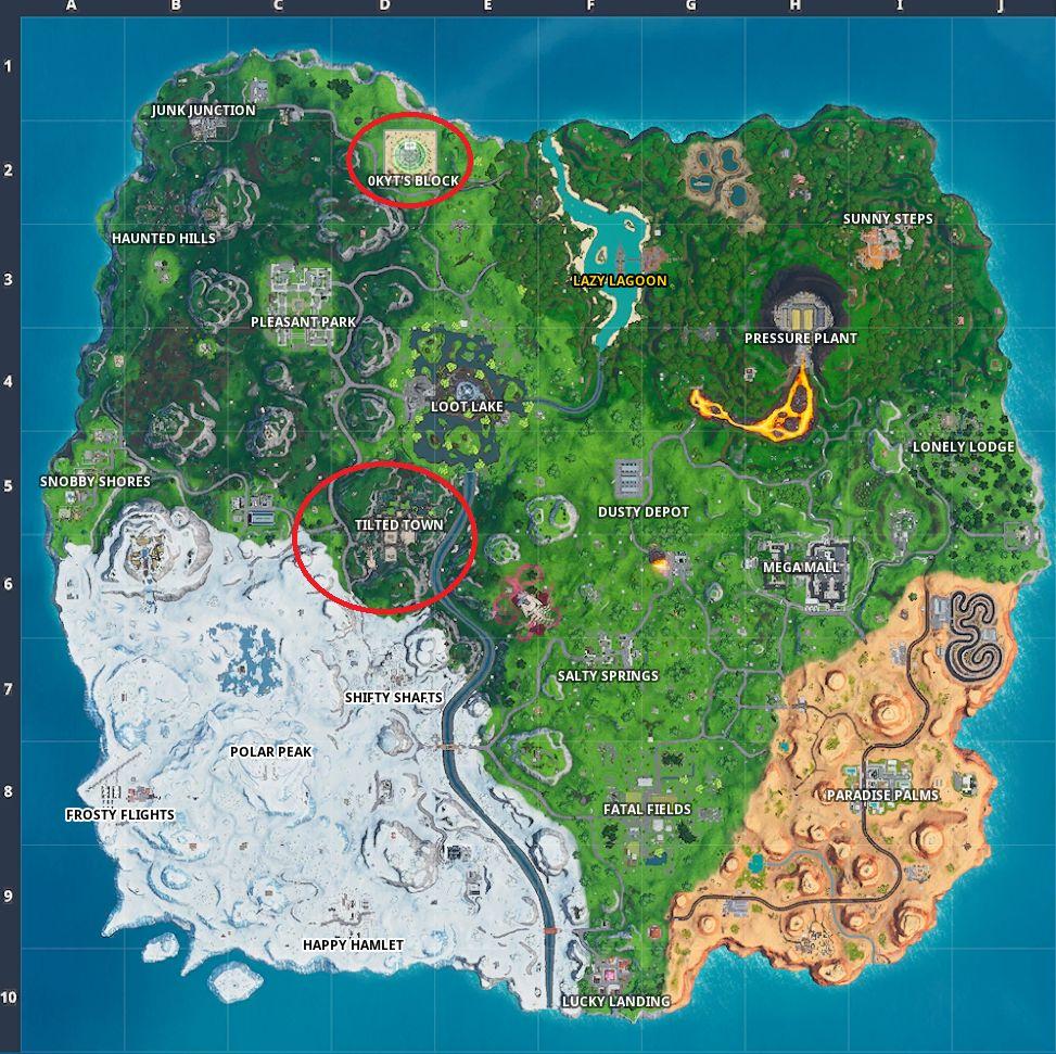 Fortnite Season X map Week 2