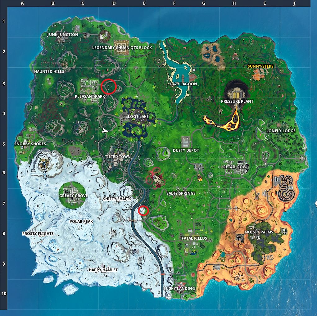 Where Are The Time Trials Located In Fortnite Season 5 Fortnite Season X Storm Racers Complete A Time Trial East Of Pleasant Park Or South West Of Salty Springs Cultured Vultures
