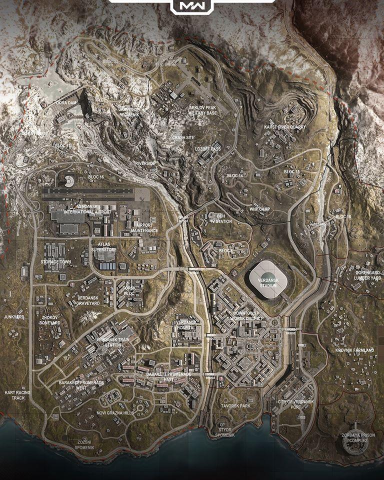 Verdansk Map