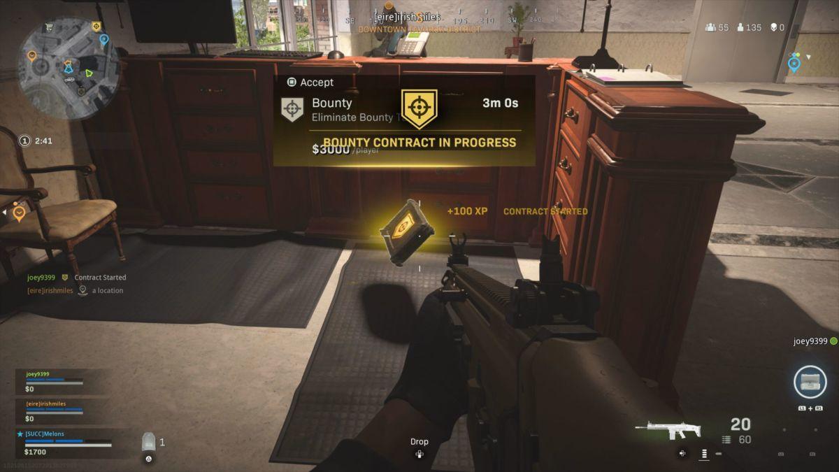Warzone Bounty Contract