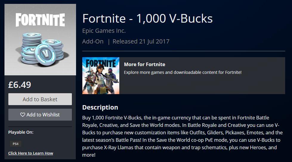 Fortnite V Bucks