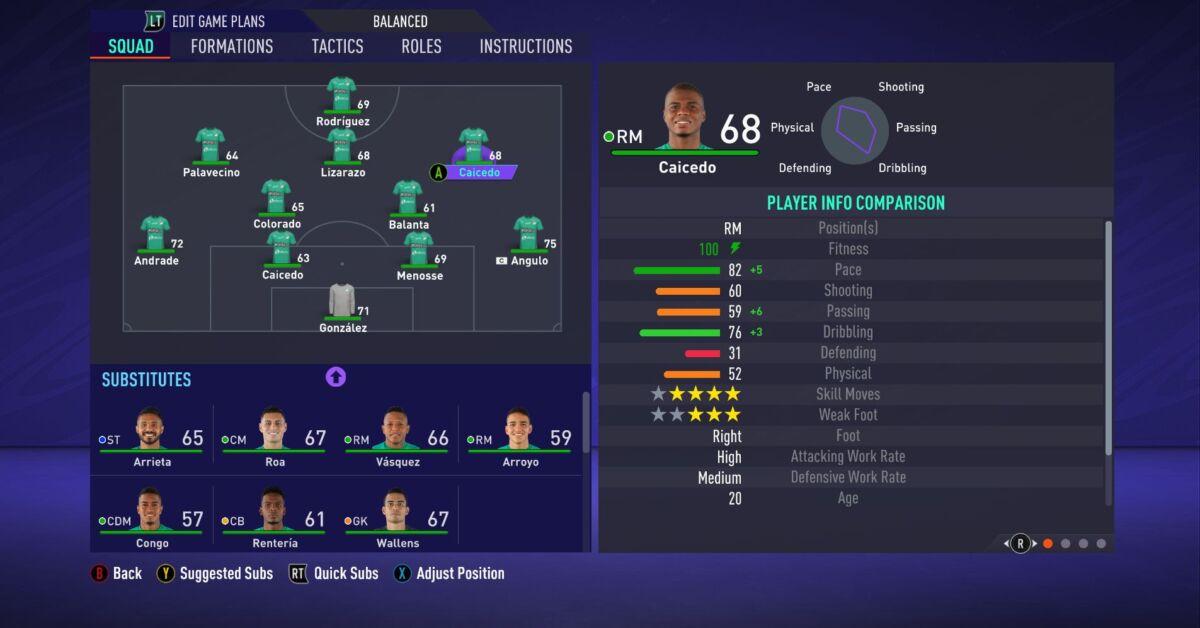 Déiber Caicedo FIFA 21