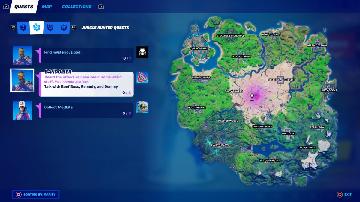 Fortnite Predator Challenges
