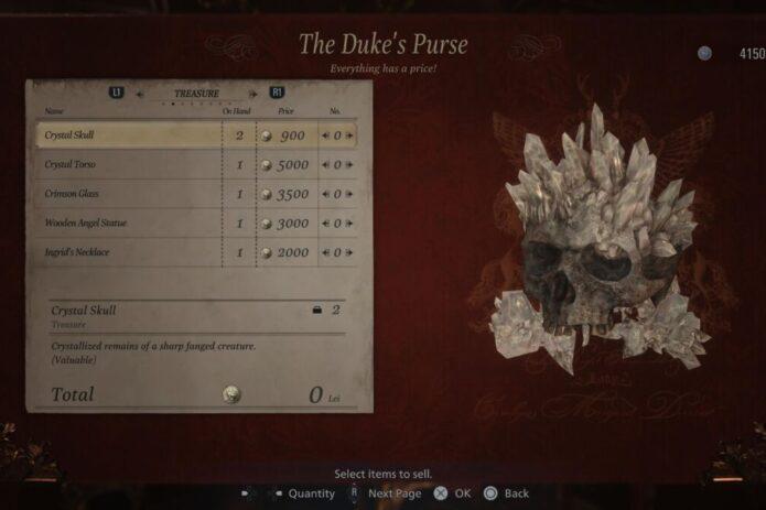Resident Evil Village Crystal Skull