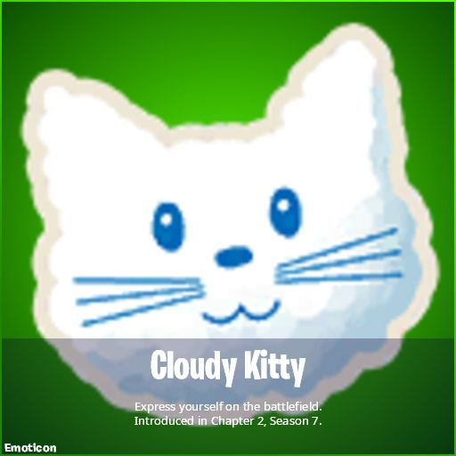 Cloudy Kitty Emoticon