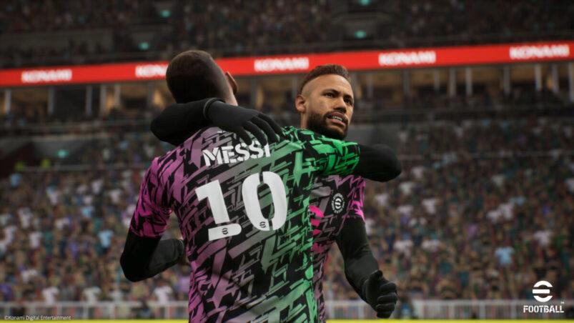 eFootball Messi and Neymar