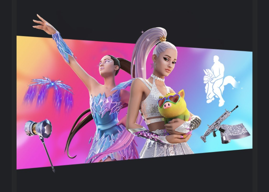 Ariana Grande Fortnite set
